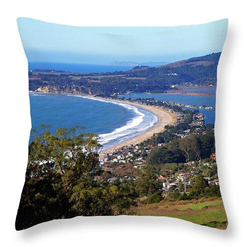 Stinson Beach Throw Pillow featuring the photograph Stinson Beach by Charlene Mitchell