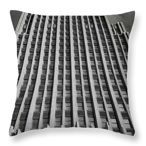 Jackson Throw Pillow featuring the photograph Standard Life Building Jackson Ms by Eugene Campbell