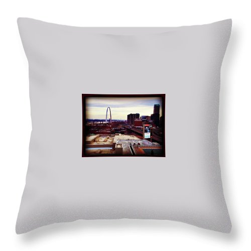 Throw Pillow featuring the photograph St.louis 2 by Alan Thorpe
