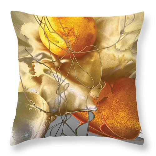 Stokcen Phobiya Is To Be Scared Of Round Objects. Throw Pillow featuring the photograph Stocken Phobia by Evguenia Men