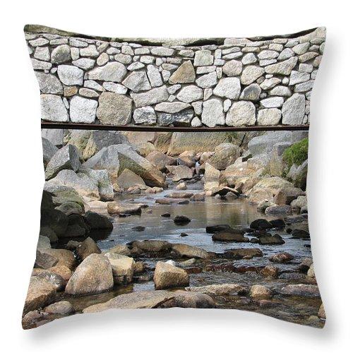Stone Throw Pillow featuring the photograph Stone Bridge by Kelly Mezzapelle