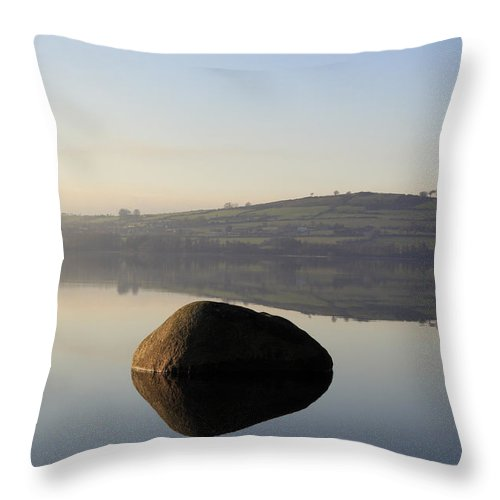 Landscape Throw Pillow featuring the photograph Stone Egg by Phil Crean