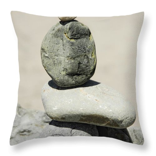 Rock Throw Pillow featuring the photograph Stoned by Donna Blackhall