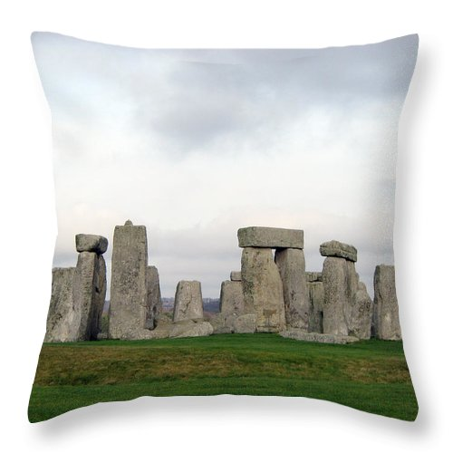Stonehenge Throw Pillow featuring the photograph Stonehenge by Amanda Barcon