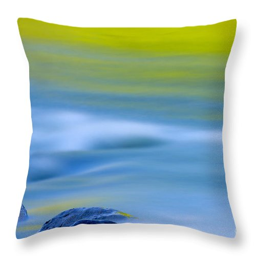Stone Throw Pillow featuring the photograph Stones In River by Silke Magino