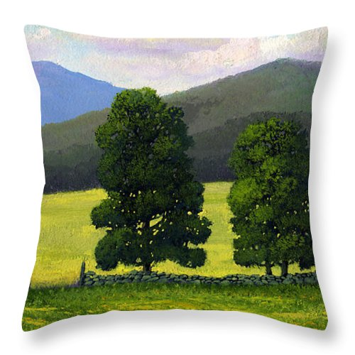Landscape Throw Pillow featuring the painting Stonewall Field by Frank Wilson