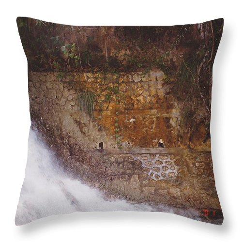 Brick Throw Pillow featuring the photograph Stonewall by Michelle Powell