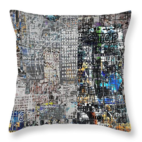 City Throw Pillow featuring the digital art Stop IIi by Andy Mercer