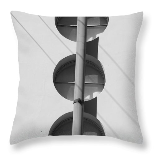 Architecture Throw Pillow featuring the photograph Stop Yield And Go by Rob Hans