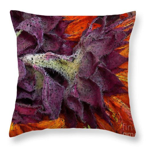 Flower Throw Pillow featuring the photograph Store Flower by Ron Bissett