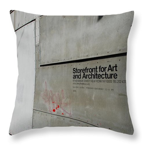Storefront Throw Pillow featuring the photograph Storefront For Art And Architecture by Rob Hans