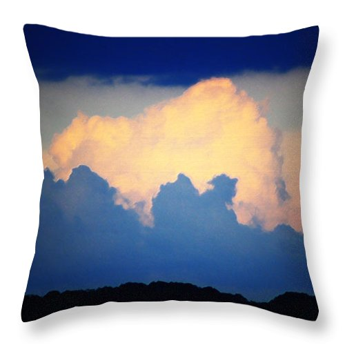 West Throw Pillow featuring the digital art Storm Approaching Painting by Teresa Mucha