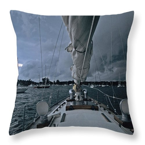 Storm Throw Pillow featuring the photograph Storm At Put-in-bay by John Harmon