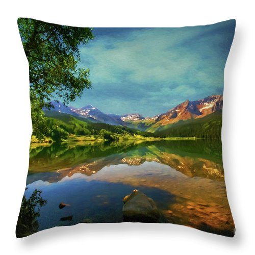 Trout Lake Throw Pillow featuring the photograph Storm At Trout Lake by Priscilla Burgers