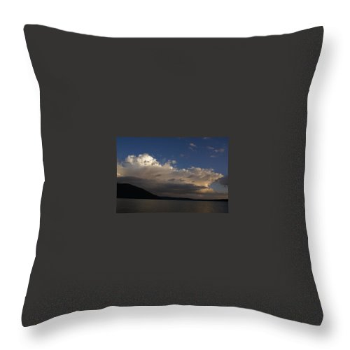 Shadow Mountain Lake Throw Pillow featuring the photograph Storm Cloud Over Shadow Mountain Lake II by Jacqueline Russell