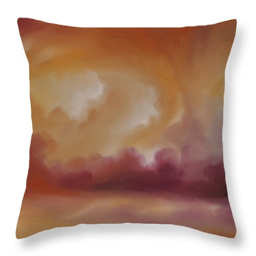 Tempest Throw Pillow featuring the painting Storm Clouds 2 by James Christopher Hill