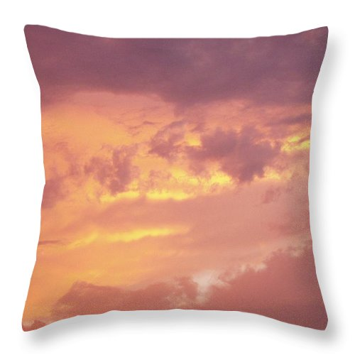 Clouds Throw Pillow featuring the photograph Storm Clouds by Deborah Crew-Johnson