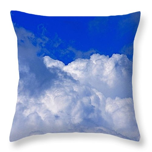 Clouds Throw Pillow featuring the photograph Storm Clouds From Ike by Kenna Westerman