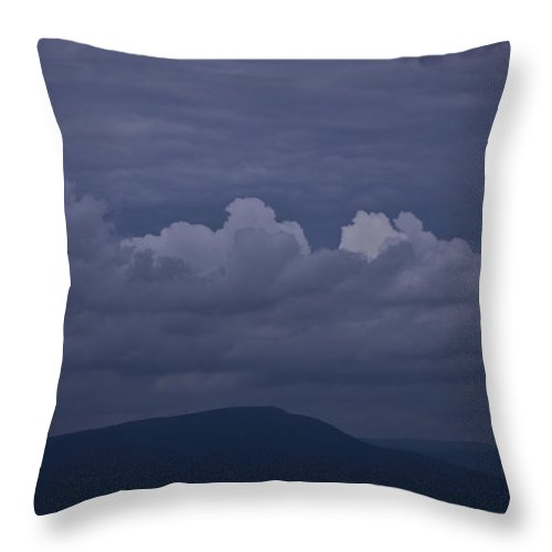 Roanoke Throw Pillow featuring the photograph Storm Clouds Over The Valley by Teresa Mucha