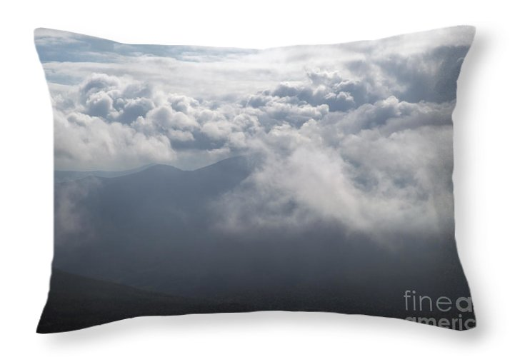 Storm Throw Pillow featuring the photograph Storm Clouds - White Mountains New Hampshire by Erin Paul Donovan