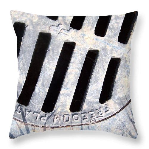 Public Utilities Throw Pillow featuring the photograph Storm Drain 2 by Gigi Croom