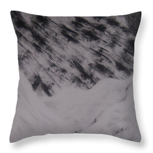 Storm Throw Pillow featuring the painting Storm by Emily Young