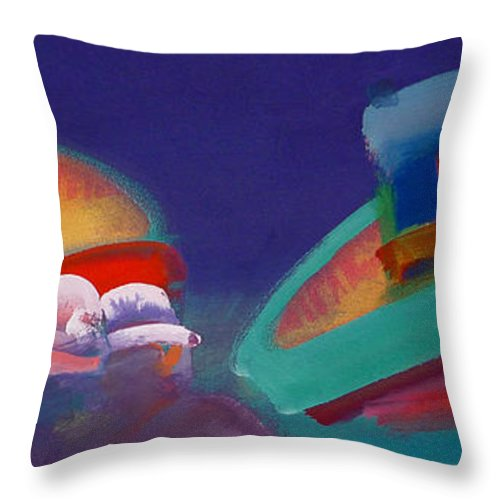 Storm Throw Pillow featuring the painting Storm Horizon by Charles Stuart