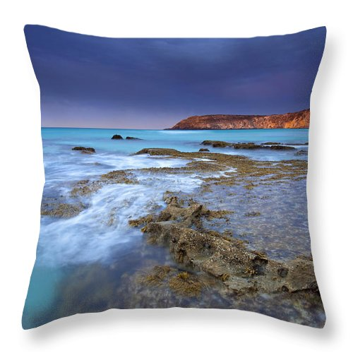 Dawn Throw Pillow featuring the photograph Storm Light by Mike Dawson