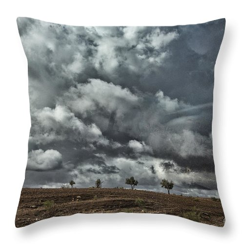 Morocco Throw Pillow featuring the photograph Storm Morocco by Chuck Kuhn
