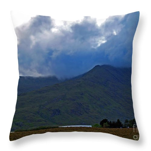 Fine Art Photography Throw Pillow featuring the photograph Storm On The Horizon In Connemara by Patricia Griffin Brett