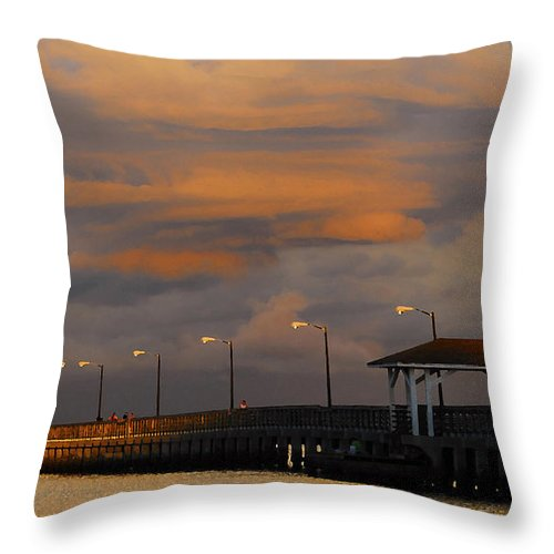 Storm Throw Pillow featuring the photograph Storm Over Ballast Point by David Lee Thompson