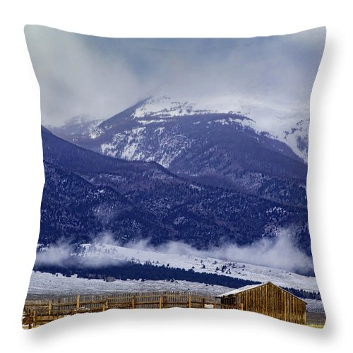 Barn Throw Pillow featuring the photograph Storm Rolling In by Jennifer Myers
