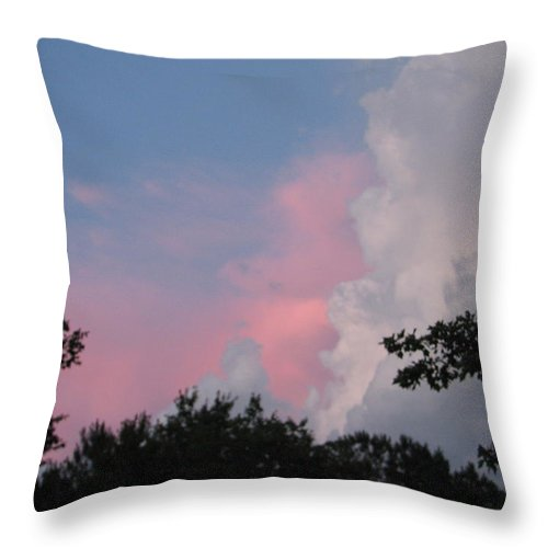Storm Throw Pillow featuring the photograph Storm Rolling In by Kelly Mezzapelle