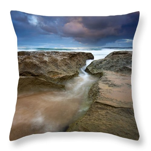 Storm Surge Throw Pillow featuring the photograph Storm Surge by Mike Dawson