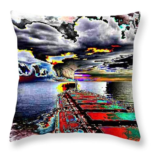 Storm Clouds Throw Pillow featuring the photograph Storm Warning by Tim Allen