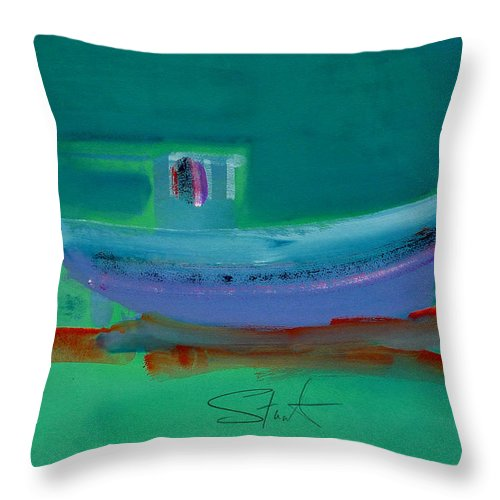 Deep Throw Pillow featuring the painting Stormbringer by Charles Stuart