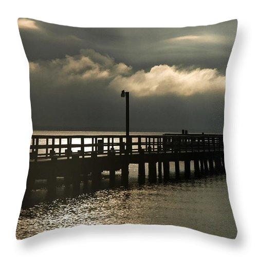 Clay Throw Pillow featuring the photograph Storms Brewin' by Clayton Bruster