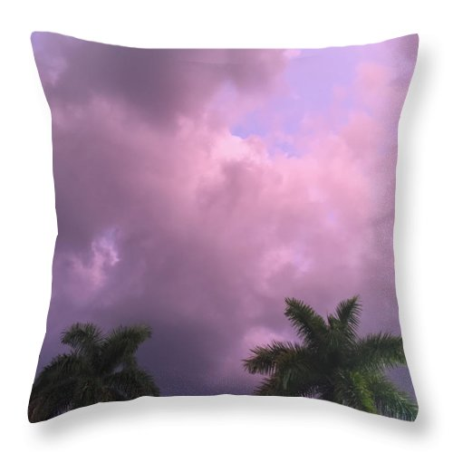 Palm Throw Pillow featuring the photograph Storms In The Tropics by Margie Hurwich