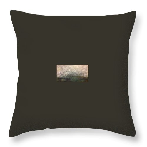 Throw Pillow featuring the painting Storms Of Sanur by Vanessa Grant
