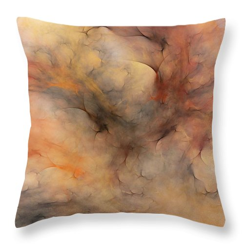 Abstract Throw Pillow featuring the digital art Stormy by David Lane