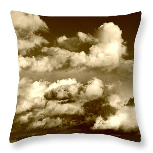 Clay Throw Pillow featuring the photograph Stormy Skies In Socal by Clayton Bruster