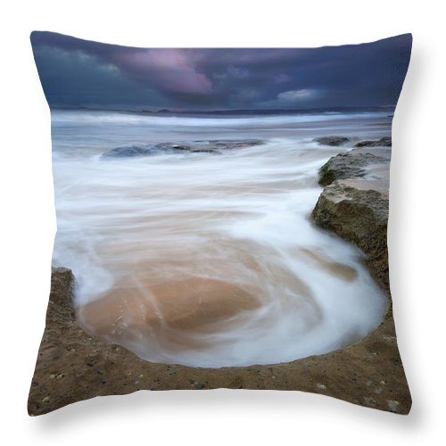 Sunrise Throw Pillow featuring the photograph Stormy Sunrise by Mike Dawson