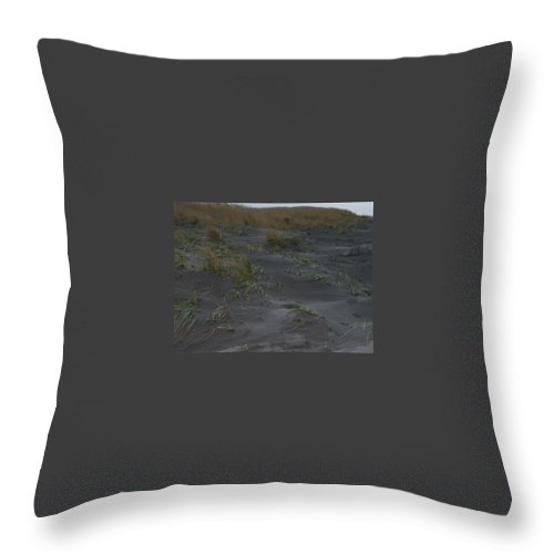 Seaside Throw Pillow featuring the photograph Stormy Walk On The Beach II Long Beach Washington by Jacqueline Russell