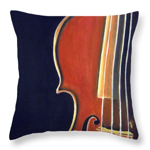 Violin Throw Pillow featuring the drawing Stradivarius by Dawnstarstudios