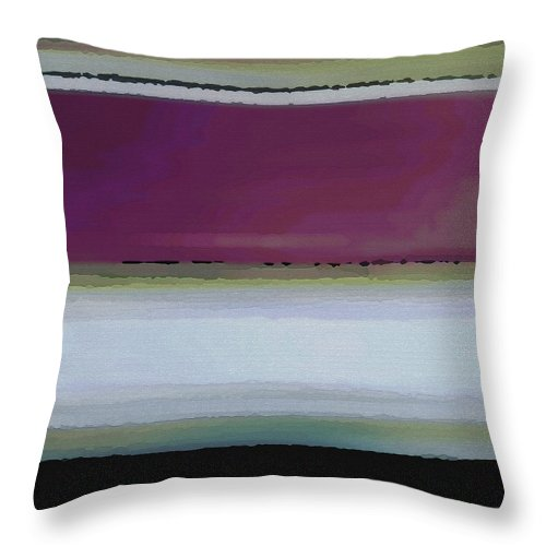 Abstract Throw Pillow featuring the digital art Straight Across by Ruth Palmer