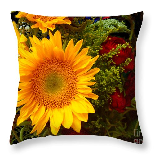 Sunflower Throw Pillow featuring the photograph Straight No Chaser by RC DeWinter