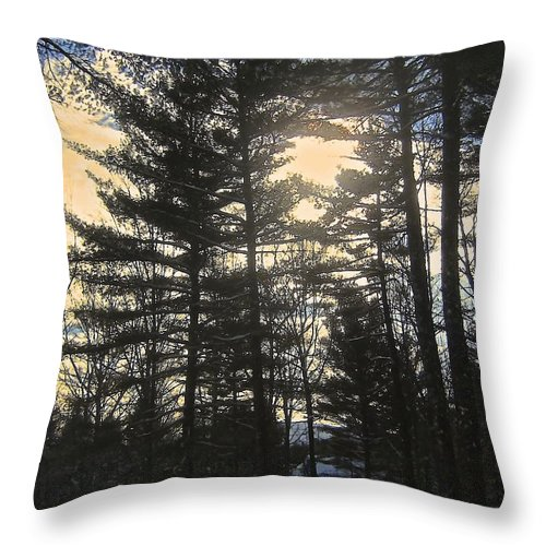 Pines Throw Pillow featuring the photograph Straining To Win The Sky by Elizabeth Tillar