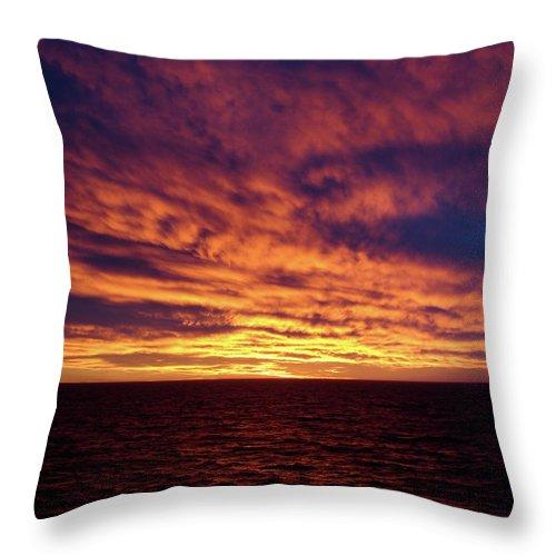 Straits Of Magellan Throw Pillow featuring the photograph straits of magellan III by Brett Winn