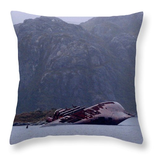 Straits Of Magellan Throw Pillow featuring the photograph Straits Of Magellan Iv by Brett Winn