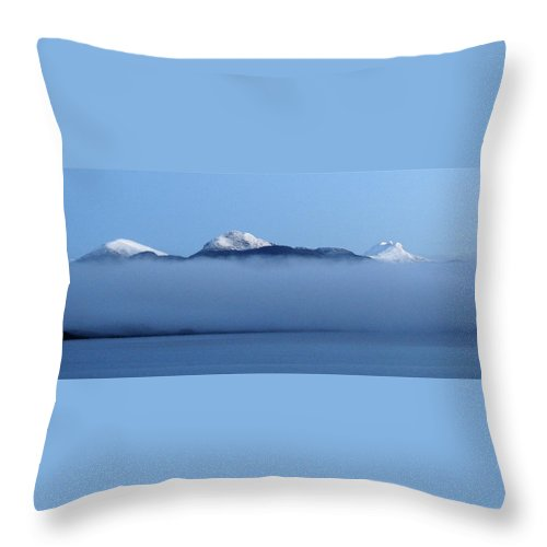 Straits Of Magellan Throw Pillow featuring the photograph Straits Of Magellan V by Brett Winn